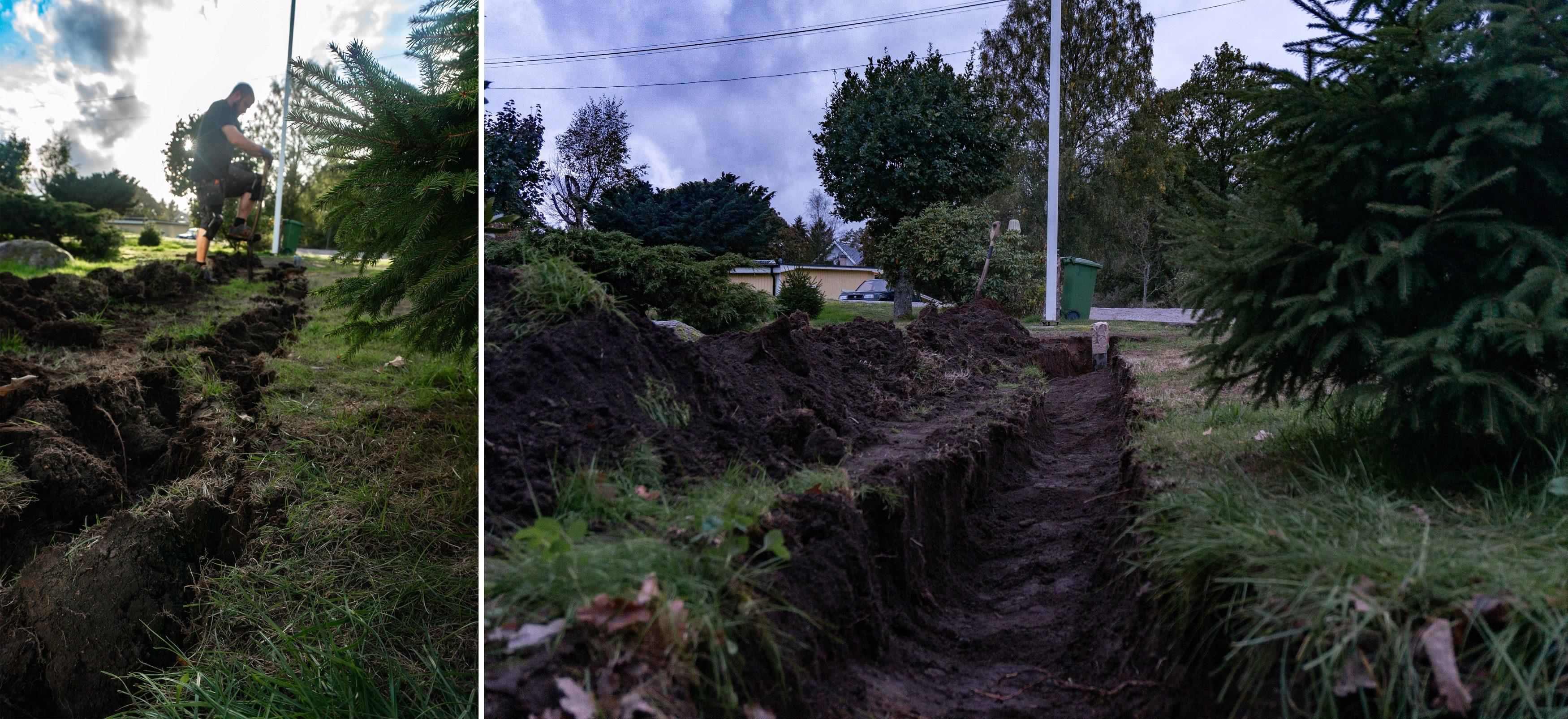 gräva bergvärme